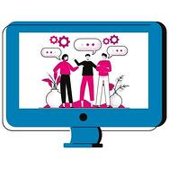People chatting on computer screen